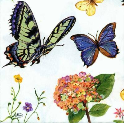 Designer Paper Napkins | Five Butterflies |Butterfly Napkins | Paper Napkins for Decoupage 4