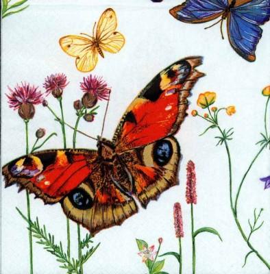Designer Paper Napkins | Five Butterflies |Butterfly Napkins | Paper Napkins for Decoupage 3