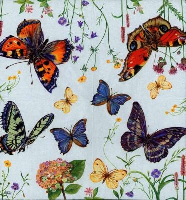 Designer Paper Napkins | Five Butterflies |Butterfly Napkins | Paper Napkins for Decoupage 5