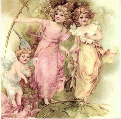 Decoupage Napkin |Garden Fairies at Play|Fairy Napkins |Paper Napkins for Decoupage