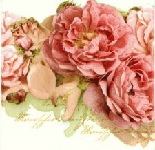 Designer Paper Napkins | Mantle of Mary Roses | Paper Napkins for Decoupage 1