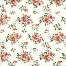 Designer Paper Napkins | Tiny Victorian Roses | Paper Napkins for Decoupage 1