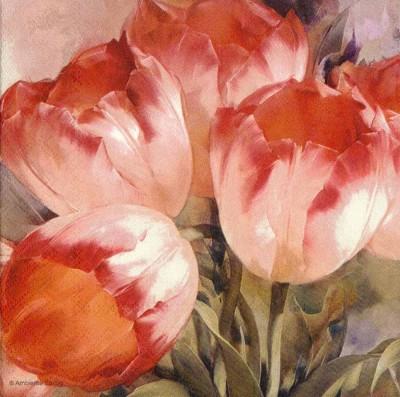 Tulip Dream | Flower Napkins | Tulips Napkin | Decoupage Paper Napkins 1