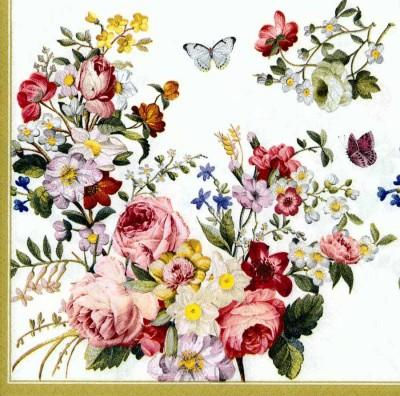Designer Paper Napkins | Rose Garden Butterflies | Rose Napkins | Paper Napkins for Decoupage 1