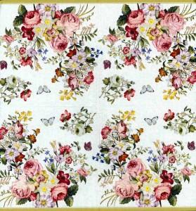 Designer Paper Napkins | Rose Garden Butterflies | Rose Napkins | Paper Napkins for Decoupage 2