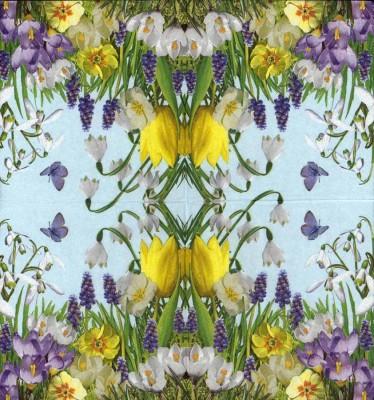 Designer Paper Napkins | Wild Flower Garden | Flower Napkins | Paper Napkins for Decoupage 2