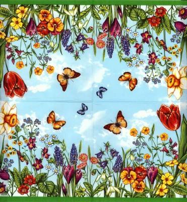Designer Paper Napkins | Summer Garden Flowers Butterflies | Flower Napkins | Paper Napkins for Decoupage 3