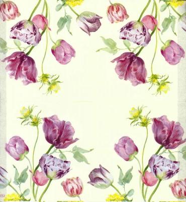 Designer Paper Napkins | Water Color Tulips | Paper Napkins for Decoupage 2