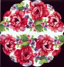 Round Paper Napkins | Watercolor Roses |Rose Napkins | Decoupage Paper Napkins 1
