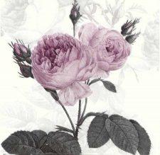 Decoupage Napkins  Floral Napkins   Pastel Purple Roses  Paper Napkins for Decoupage