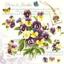 Decoupage Napkins   Floral Napkins   Romantic Violets and Butterflies   Paper Napkins for Decoupage