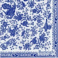 Decoupage Paper Napkins of Regal Peacock Porcelain Pattern Classic Victorian Burleigh Design | Paper Napkins for Decoupage