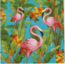 Decoupage Paper Napkins of Pink Flamingos | Paper Napkins for Decoupage