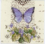 Decoupage Paper of Romantic Blue Butterfly | Paper Napkins for Decoupage