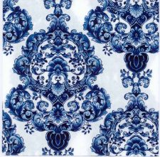 Decoupage Paper of Blue Porcelain Pattern | Paper Napkins for Decoupage