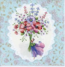Decoupage Paper Napkins of Flower Bouquet Embossed Napkins | Paper Napkins for Decoupage