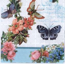 Decoupage Napkins of Butterflies Flowers and Lace | Paper Napkins for Decoupage