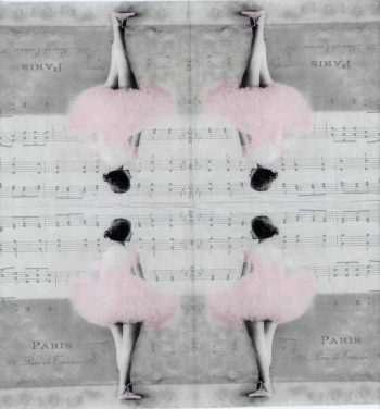 Decoupage Napkins of Paris Ballet Dancer | Paper Napkins for Decoupage