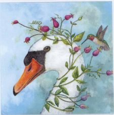 Decoupage Paper of a Goose and Hummingbird | Paper Napkins for Decoupage