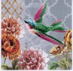 Decoupage Paper of Hummingbird and Flowers | Paper Napkins for Decoupage