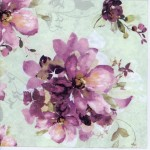 Decoupage Paper Napkins of Purple Roses in Watercolor | Paper Napkins for Decoupage
