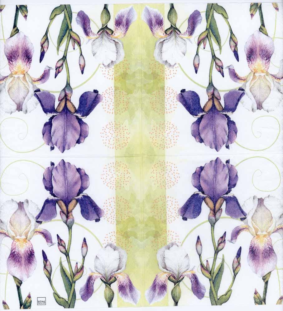 Decoupage napkins of watercolor of iris flowers izmirmasajfo