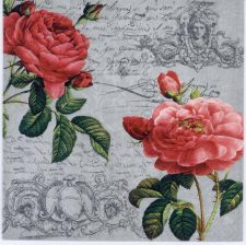 Decoupage Paper Napkins of Two Red Roses | Paper Napkins for Decoupage