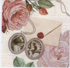 Decoupage Paper of Roses and Photo Brooches | Paper Napkins for Decoupage