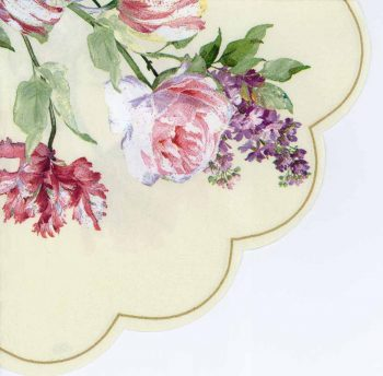 Round Decoupage Napkins of a Garden of Elisabeth Roses | Paper Napkins for Decoupage