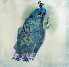 Decoupage Paper of a Royal Blue Peacock | Paper Napkins for Decoupage