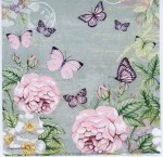 Decoupage Paper of Pastel Roses and Butterflies | Paper Napkins for Decoupage