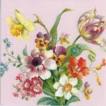 Decoupage Paper Napkins of Spring Flowers | Paper Napkins for Decoupage
