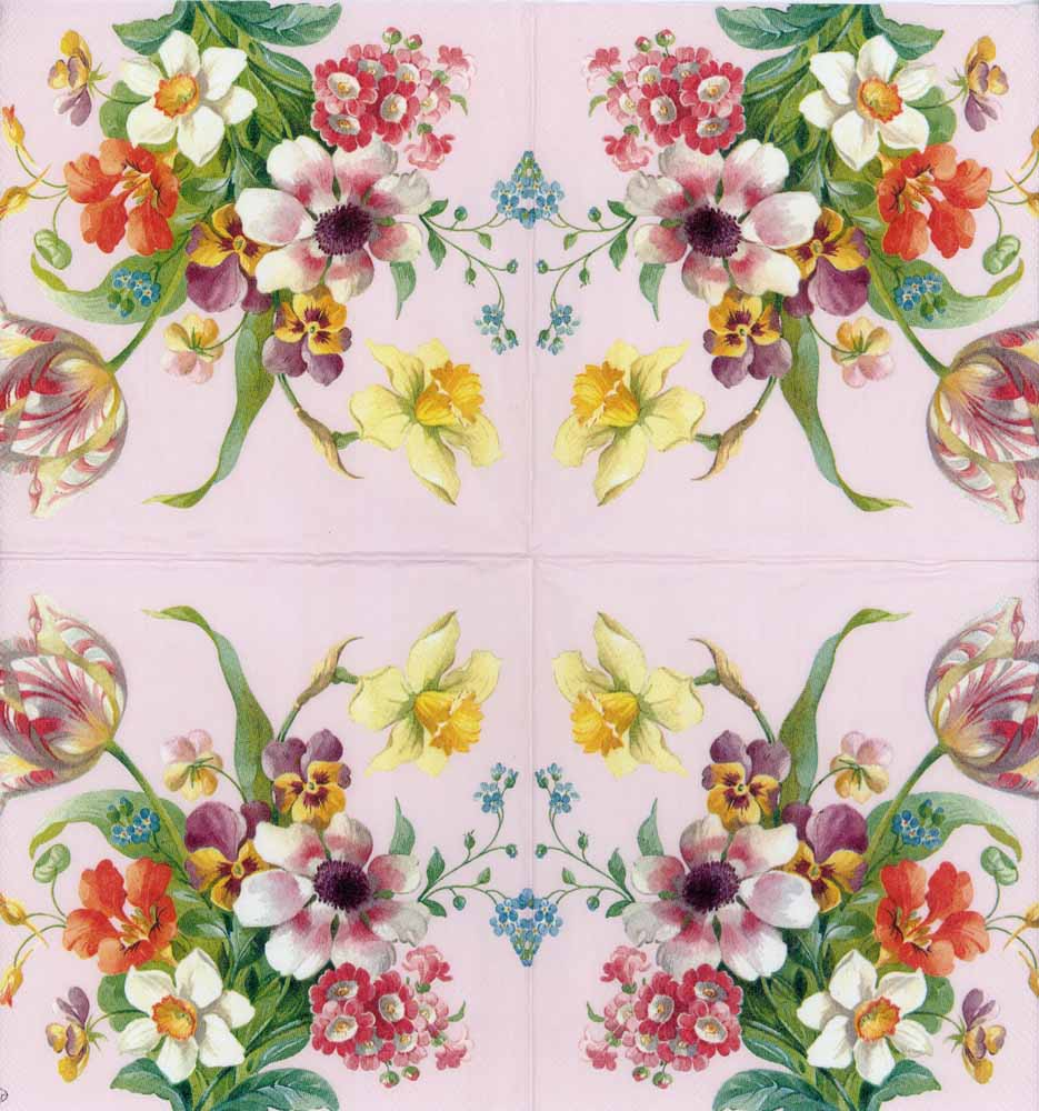 Decoupage Paper Napkins Of Spring Flowers