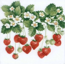 Decoupage Paper of Summer Strawberries | Paper Napkins for Decoupage