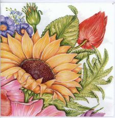 Decoupage Napkins of Sunflowers Roses Tulips | Paper Napkins for Decoupage