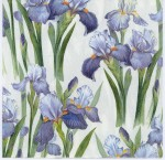 Decoupage Paper of Blue Irises | Paper Napkins for Decoupage