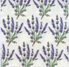 Decoupage Paper Napkins of Lavender Bouquets | Paper Napkins for Decoupage