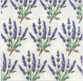 Decoupage Paper Napkins of Lavender Bouquets | Paper Napkins for Decoupage