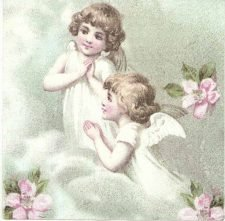 Decoupage Napkins |Angels at Prayer |Angel Napkins |Fairy Napkins | Paper Napkins for Decoupage