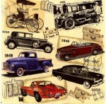 Decoupage Napkins | Vintage Car Napkins | Classic Cars |Paper Napkins for Decoupage