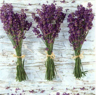 Decoupage Napkins |Lavender Napkins | Lavender Bunches |Paper Napkins for Decoupage