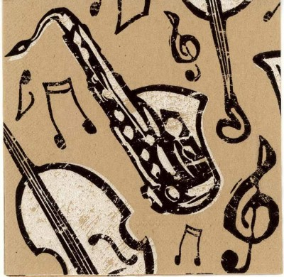 Decoupage Napkins|Bebop Jazz Instruments | Music Napkins|Jazz Napkins|Piano Napkins| Saxophone Bass Horn | Paper Napkins for Decoupage