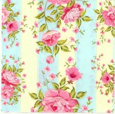 Decoupage Napkins  Rose Napkins   Pink Roses with Stripes  Paper Napkins for Decoupage