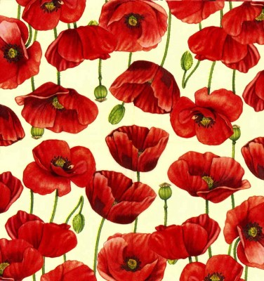 Decoupage Napkins|Poppy Napkins | Field of Red Poppies |Paper Napkins for Decoupage