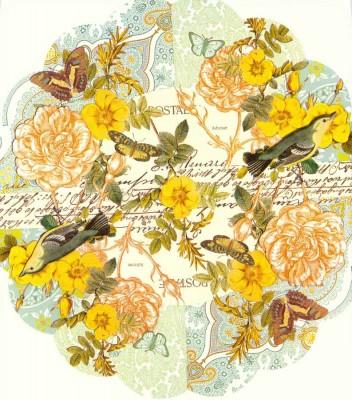 Decoupage Napkins | Round Paper Napkins |Roses Butterflies Birds | Paper Napkins for Decoupage