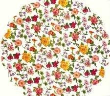 Decoupage Napkins  Round Paper Napkins  Tiny Red and Yellow Roses   Paper Napkins for Decoupage