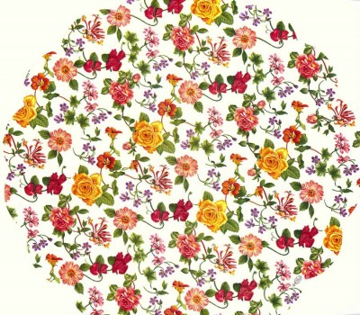 Decoupage Napkins |Round Paper Napkins |Tiny Red and Yellow Roses | Paper Napkins for Decoupage