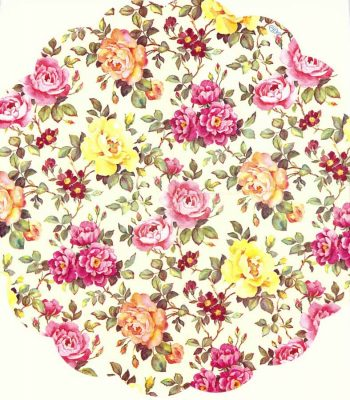 Decoupage Napkins |Round Paper Napkins |Rosery of Pink and Yellow Roses |Paper Napkins for Decoupage