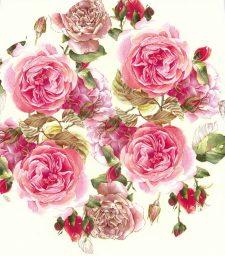 Decoupage Napkins | Round Paper Napkins |Pink Tea Roses | Paper Napkins for Decoupage