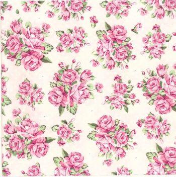 Decoupage Napkins  Romantic Napkins  Pink Pastel Roses  Paper Napkins for Decoupage